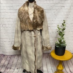 Fabulous Fur Donna Salyers full length coat faux